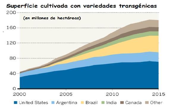 Cultivos transgénicos en el mundo