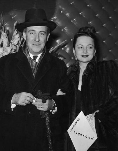 Olivia de Havilland y su primer marido, Marcus Goodrich