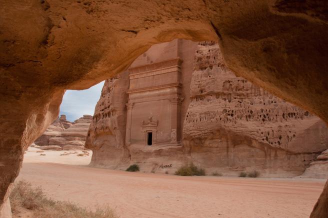 Tumbas excavadas en Mada'in Saleh (Arabia Saudita)