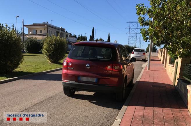 Vehículo relacionado con el mafioso detenido en El Vendrell