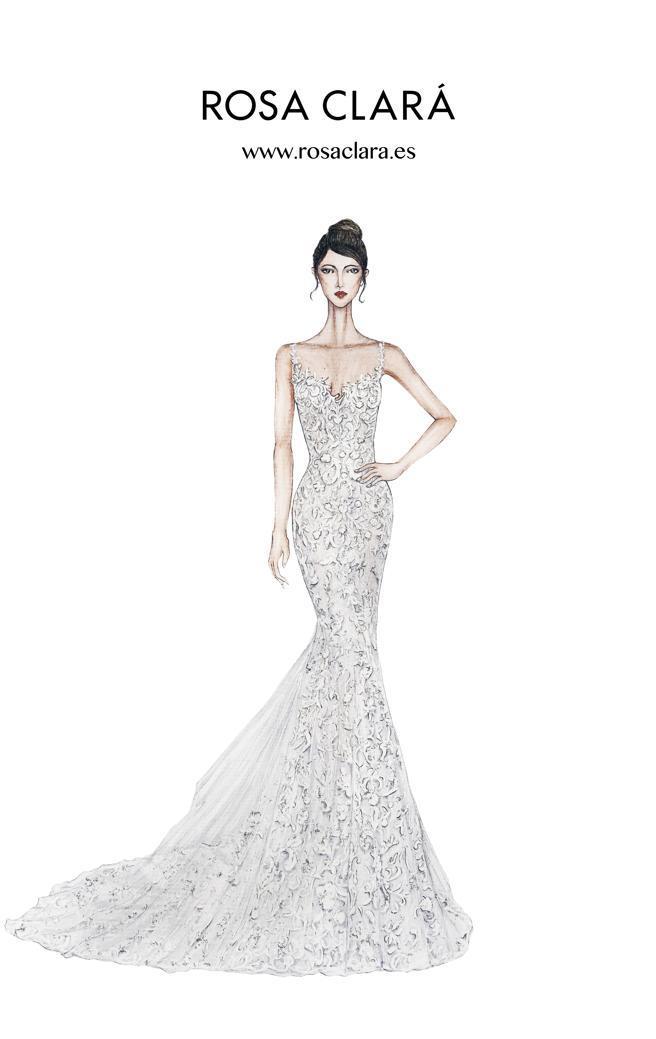 Vestido de novia de Antonella Roccuzzo