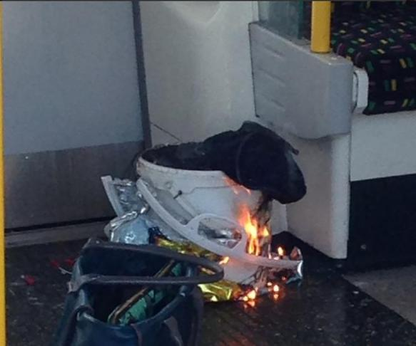 El artefacto que ha explotado en el tren de Londres