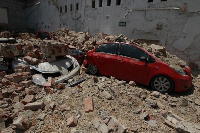 Vista general de daños en Ciudad de México