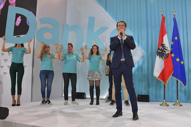 Sebastian Kurz, ganador de las elecciones en Austria