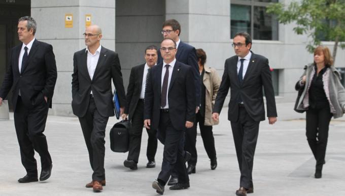 La juez baraja penas de hasta 50 años de cárcel para justificar la prisión del Govern