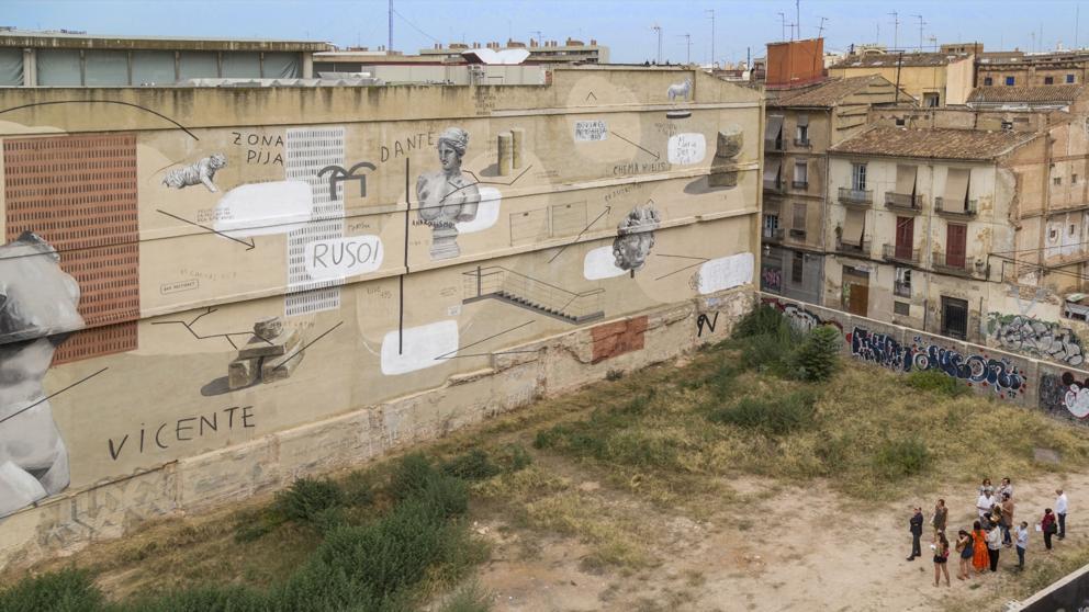 Arte urbano para recuperar la memoria histórica de Sant Feliu de Llobregat
