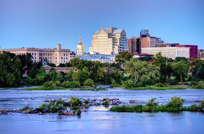 Condado de Trenton a lo largo del río Delaware, Nueva Jersey
