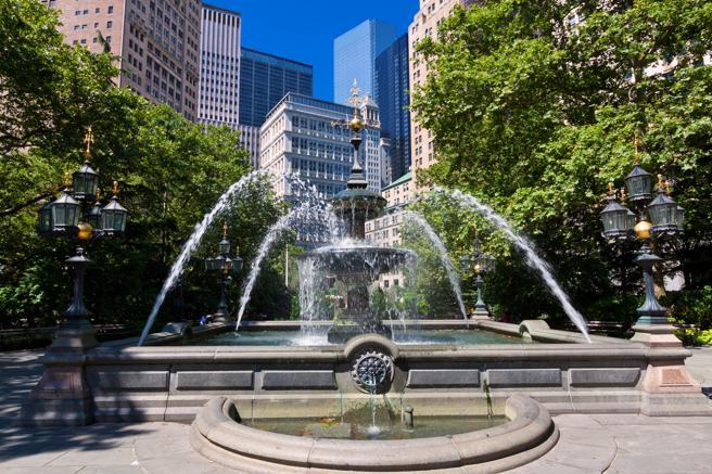 Fuente del City Hall Park de Nueva York