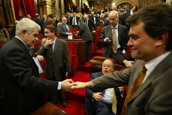Comienzo debate de investidura de Pasqual Maragall como president de la Generalitat, en el Parlament de Catalunya