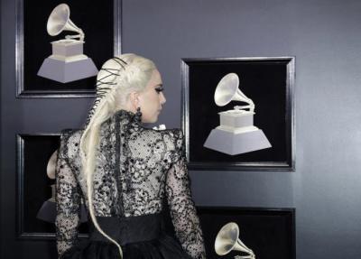 Detalle del recogido de Lady Gaga