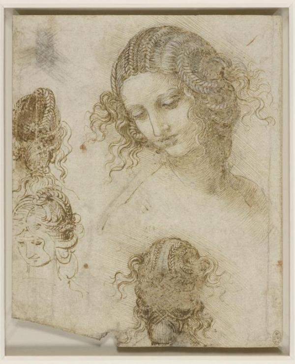 Dibujos de Leonardo en el Palazzo Reale de Milan