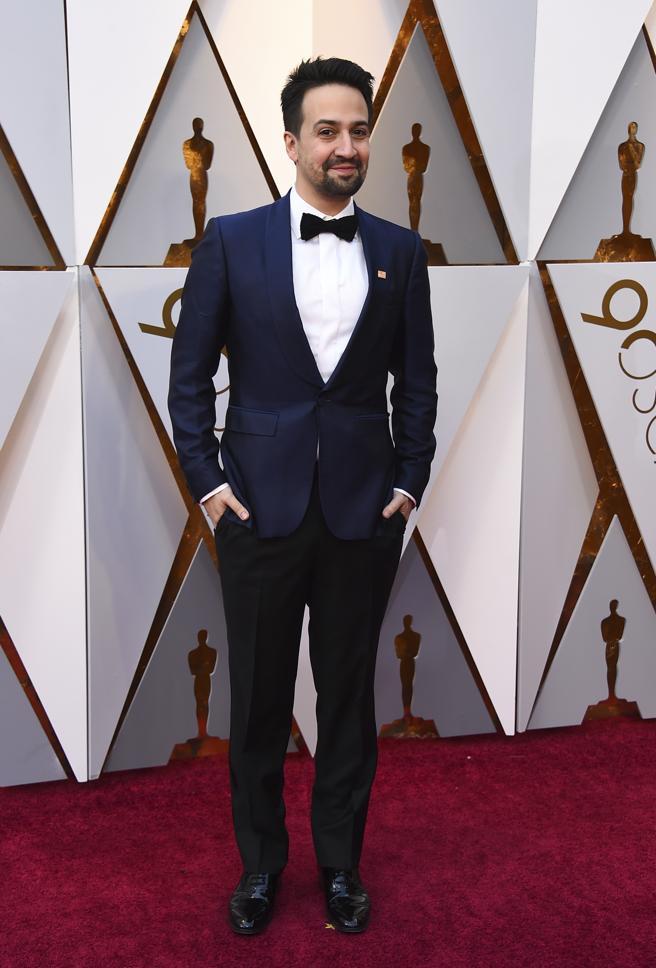 Lin-Manuel Miranda llega a la alfombra roja de los Oscars 2018