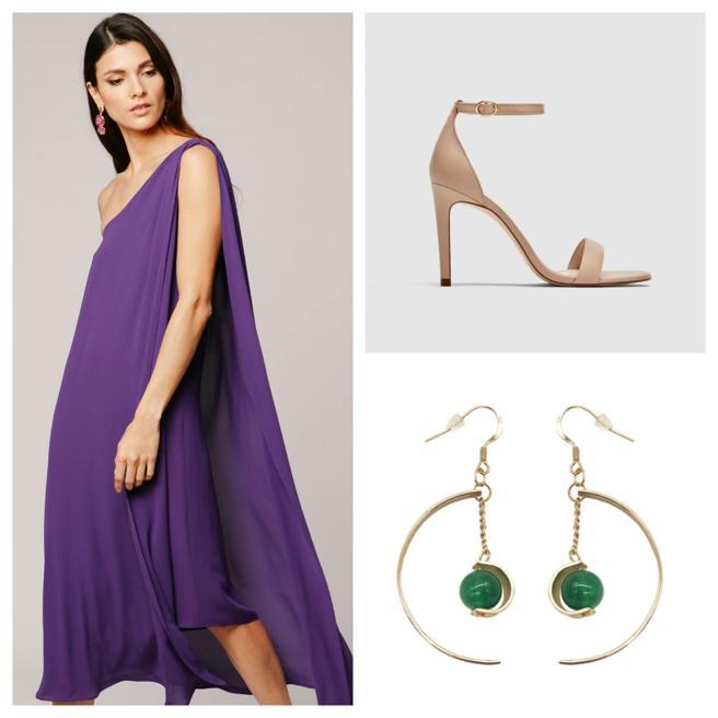 Vestido de La Croixé, zapatos de Zara y pendientes de Lito & Lola