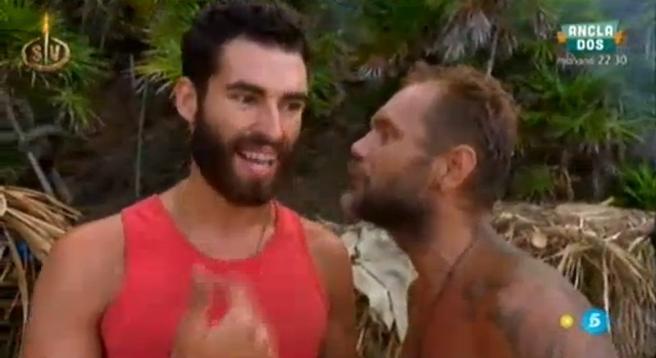 Rubén y Nacho discuten en Supervivientes.