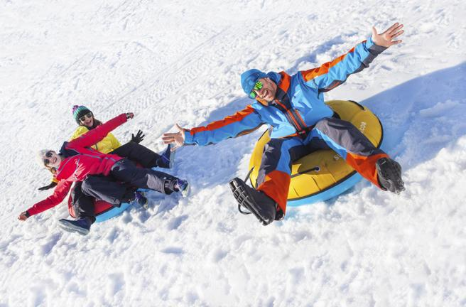 Se puede practicar snow tubing en el sector Grandvalira-Grau Roig