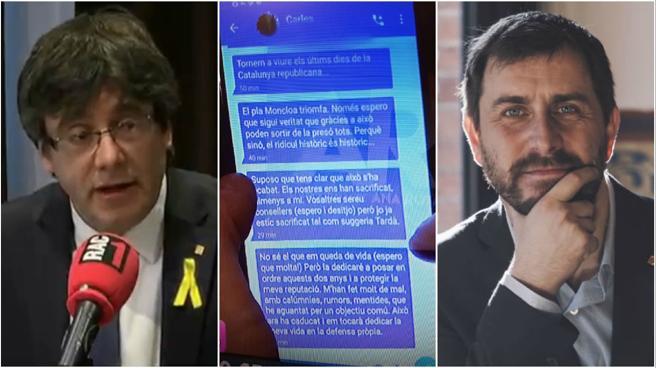 Puigdemont anuncia que Comín denunciará a Telecinco por haber filtrado la conversación privada