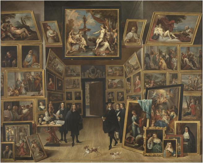 La obra 'El archiduque Leopoldo Guillermo en su galería de pinturas en Bruselas'