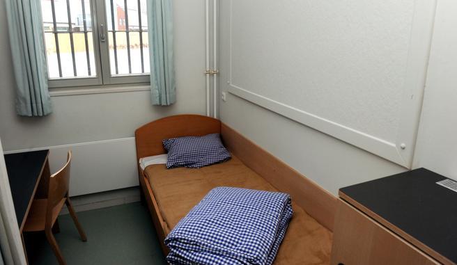 Imagen de una celda de la cárcel de Neumünster