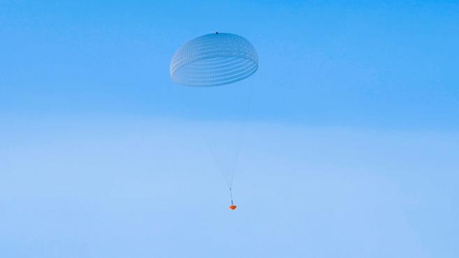 El paracaídas se ha probado en Kiruna, Suecia