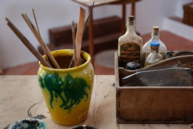 Materiales del taller de Miró