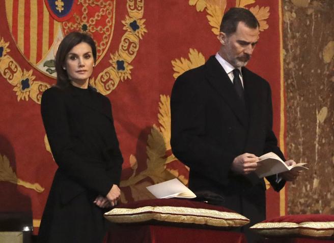 Los reyes Felipe y Letizia siguieron la ceremonia desde el altar mayor
