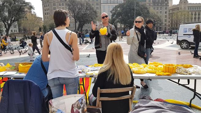 'Acampada per la República' en Plaça Catalunya (Barcelona)