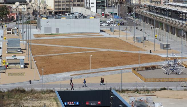 Vista del Parc Central tras su inauguración el 20 de marzo