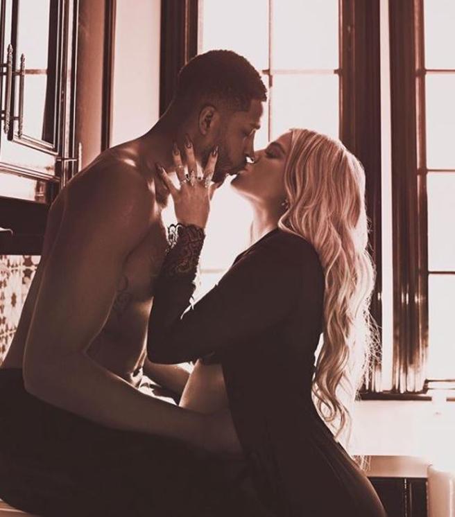 Foto colgada en el Instagram de Khloé Kardashian mostrando su amor por su pareja