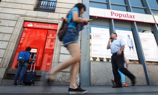 Una oficina del Popular en Madrid