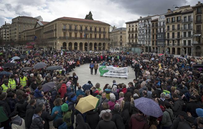 Manifestación a favor de los ocho procesados de Alsasua