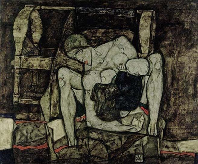 Una obra del pintor Egon Schiele