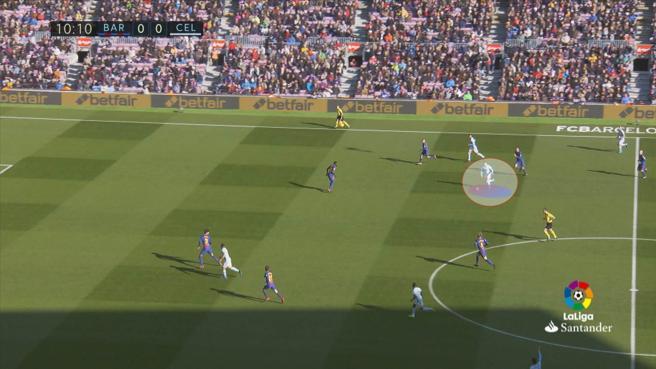 Imagen táctica del Celta - Barça