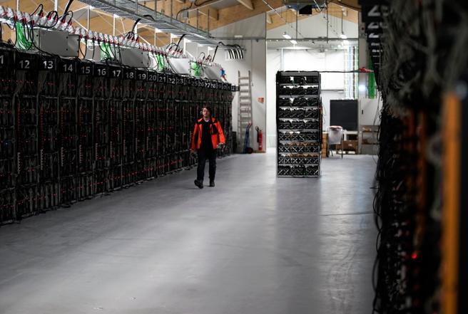Máguinas de minar bitcoins en Keflavik Islandia