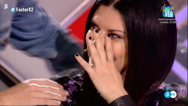'Factor X': Laura Pausini emocionada tras una de las actuaciones de la segunda noche de audiciones