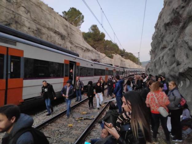 Choque de trenes en Castellgalí