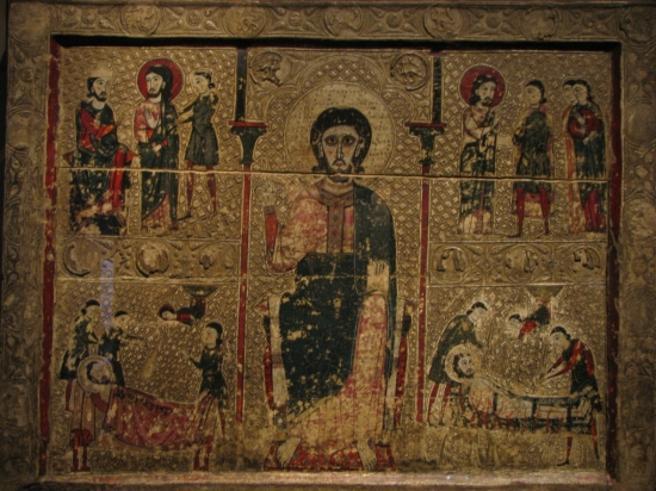 Vorderseite von Sant Vicenç de Tresserra, derzeit im Museum von Lleida ausgestellt