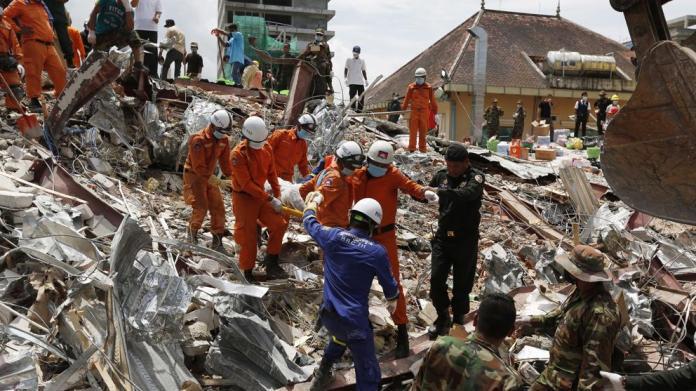 Asciende a 17 el número de muertos por el derrumbe de un edificio en Camboya
