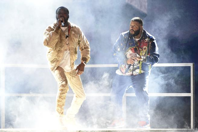 Meek Mil, and DJ Khaled during the BET Awards last June 23 in the Microsoft Theater in Los Angeles.