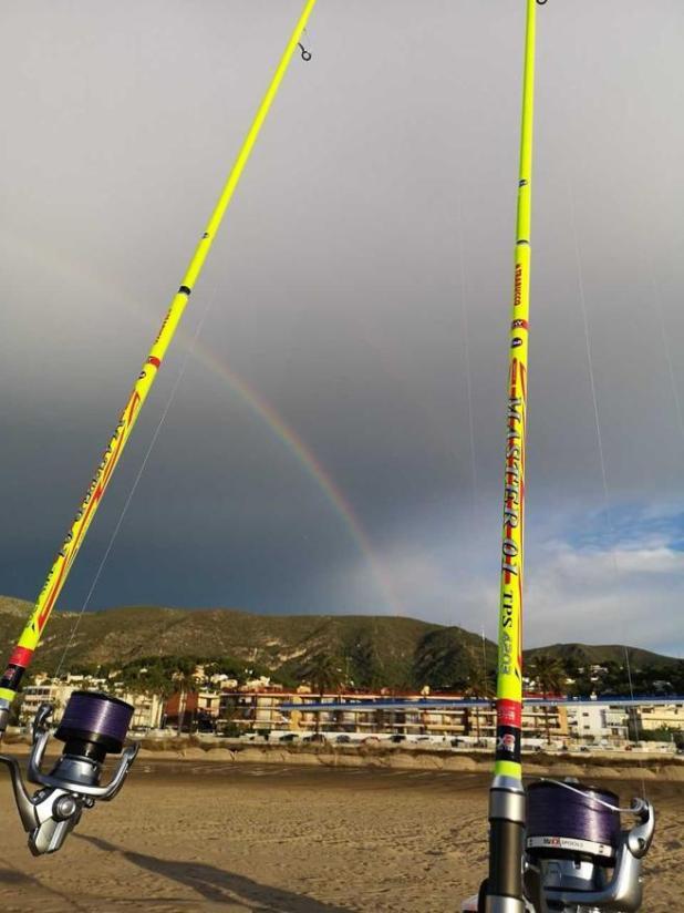Pescando en Castelldefels.