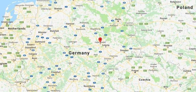 Halle se encuentra al este de Alemania