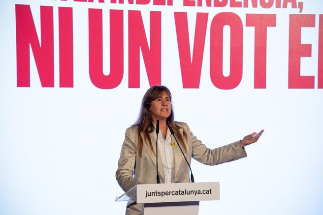 The number one of Junts per Catalunya by Barcelona, ​​Laura Borras