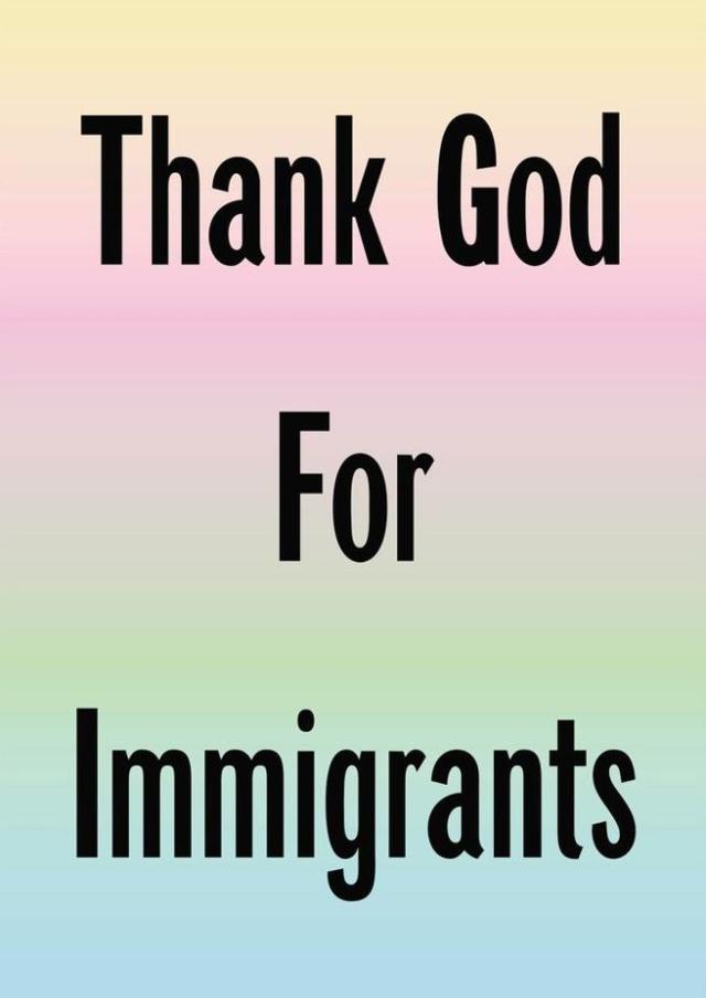 Jeremy Deller ha creado impresiones para pegar en las ventanas en solidaridad con los inmigrantes