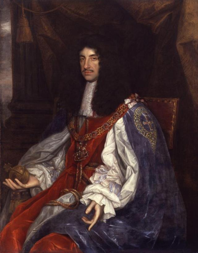El rey Carlos II de Inglaterra, en una pintura de John Michael Wright
