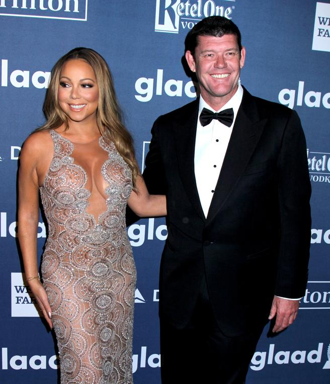 Singer Mariah Carey and her then-fiance James Packer in 2016, in New York