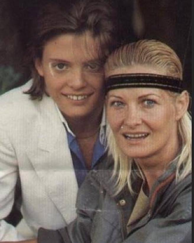 Luis Miguel and his mother, Marcela Basteri