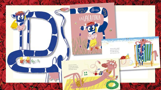 Details of the book, 'The cow skinny' Raul Cows and Ana Gómez (illustrations)