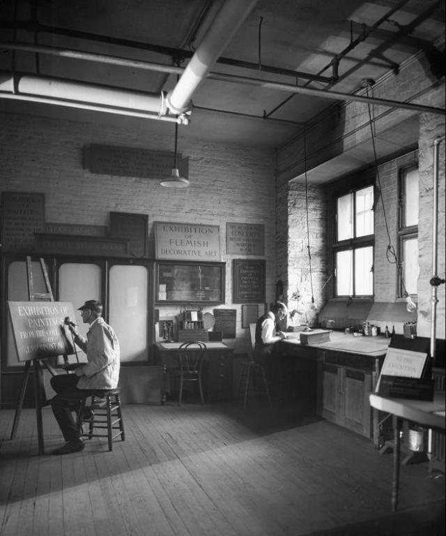 The Lettering Shop photographed in 1922
