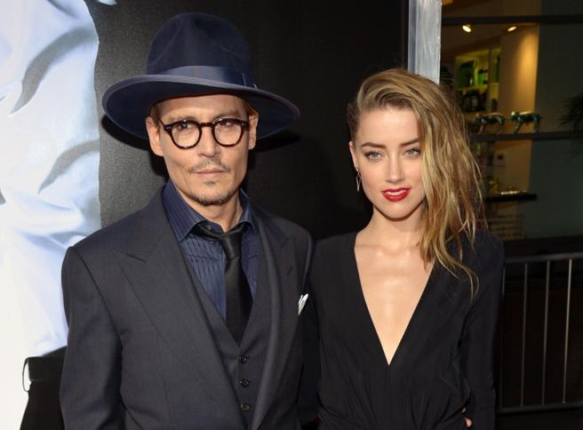Johnny Depp and Amber Heard, in a file image.