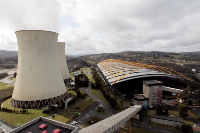 Vista aérea de las instalaciones de la central térmica de Endesa en el municipio coruñés de As Pontes