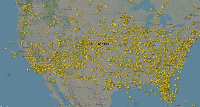 Flights in the united States on Sunday 5 April at 18.30 h